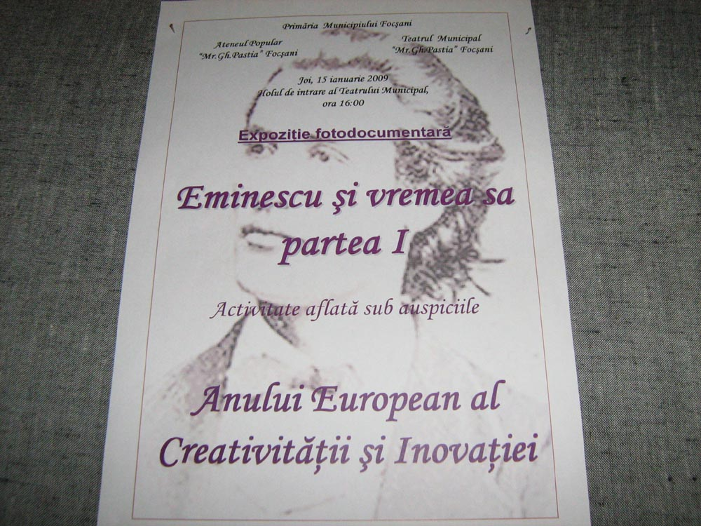 You are browsing images from the article: PARTICIPAREA COMUNITATII EVREILOR FOCSANI LA ANIVERSAREA A 159 DE LA NASTEREA LUI M. EMINESCU