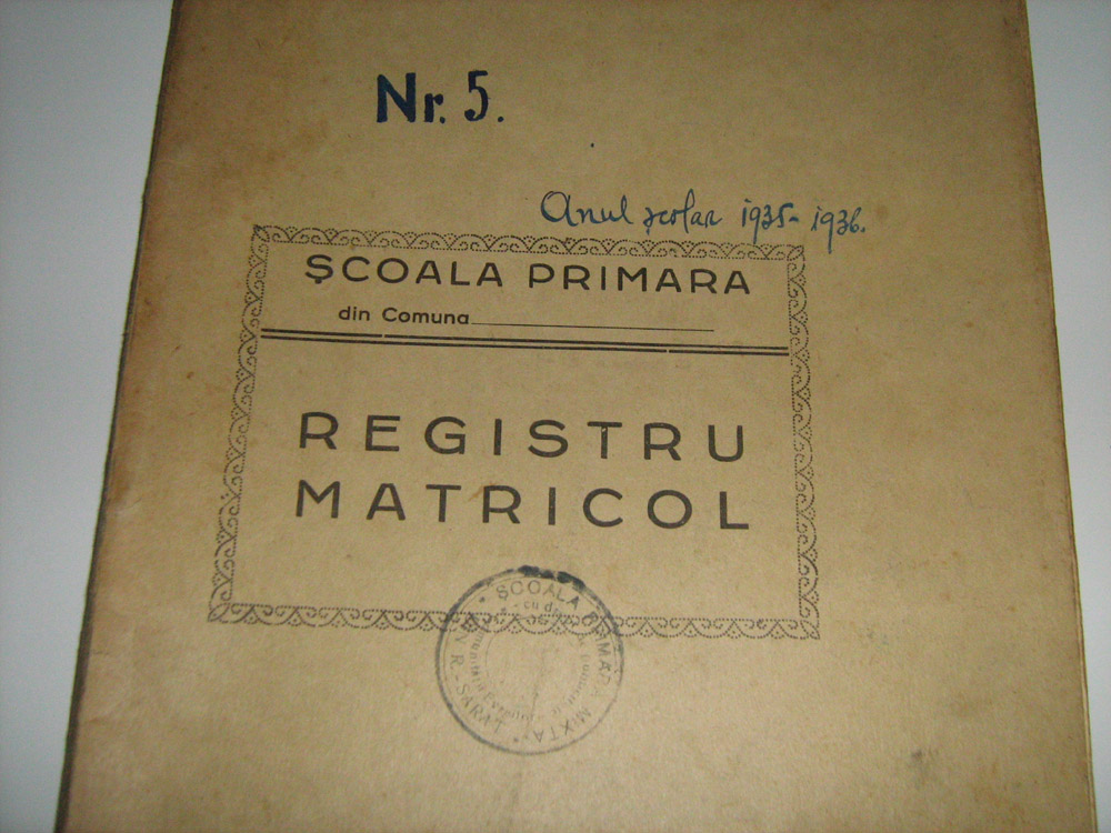 You are browsing images from the article: Registre matricole